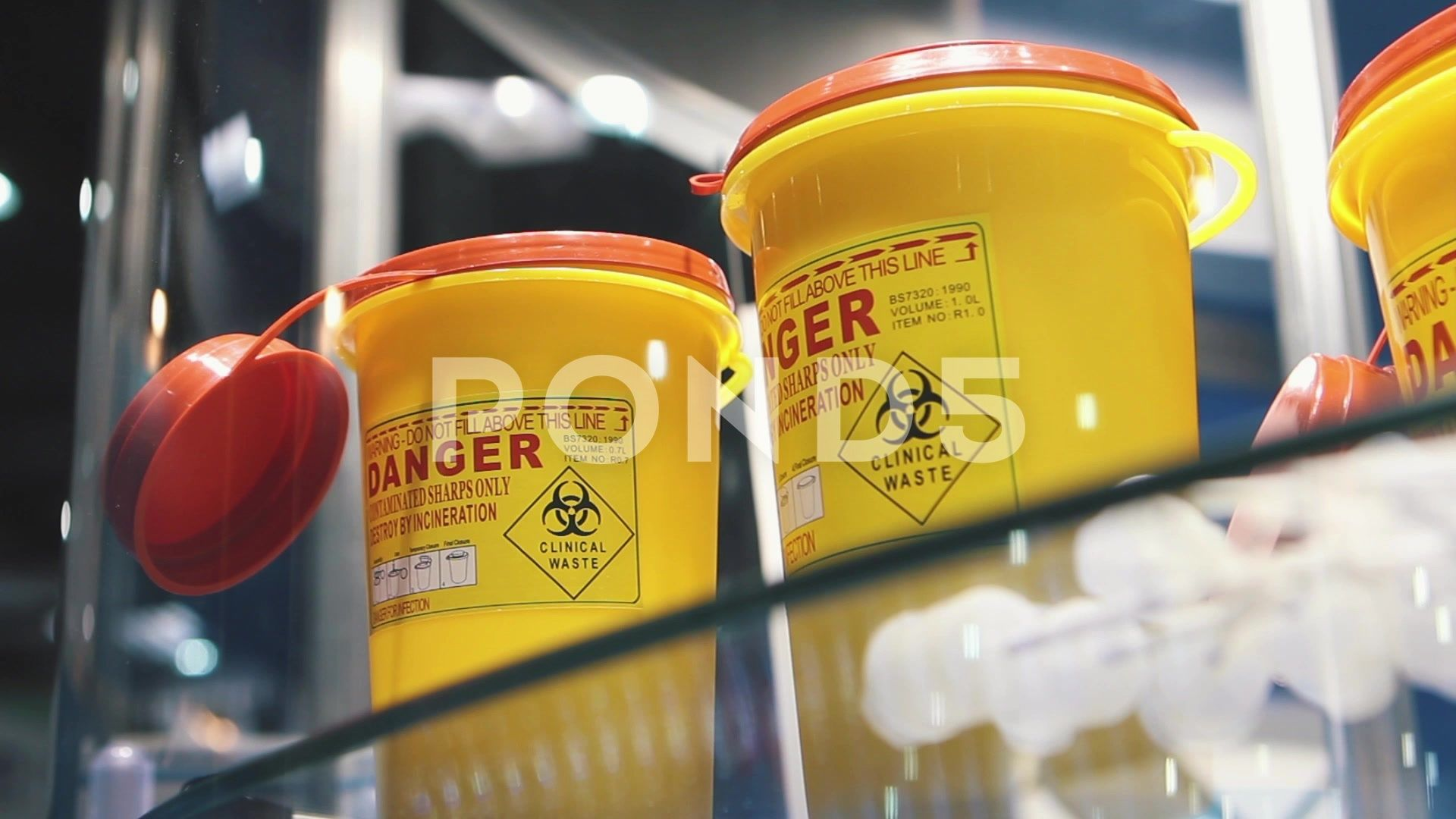 Container For Medical Waste Stock Footage MedicalContainerWasteFootage