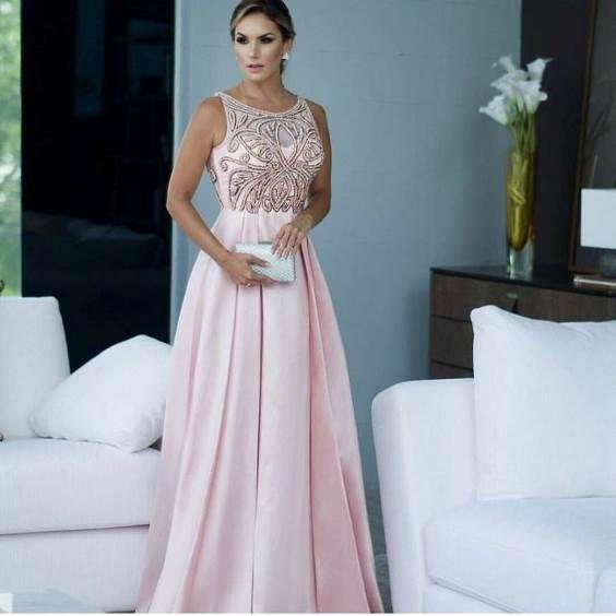 64fc56c9e vestido e festa rosa claro Roupa De Festa, Vestido De Festa Longo, Moda  Festa