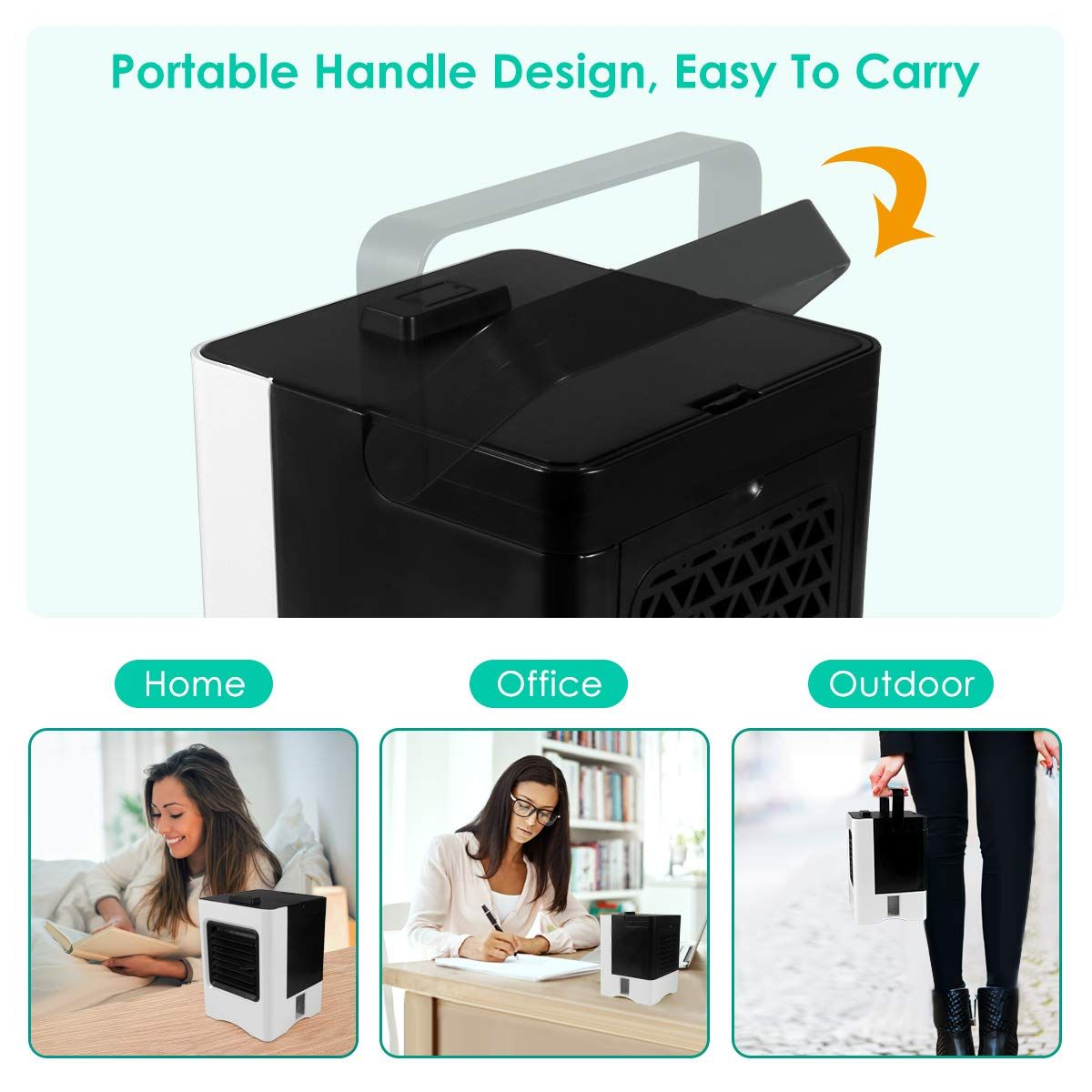 Rechargeable Portable Air Conditioner Conditioning USB