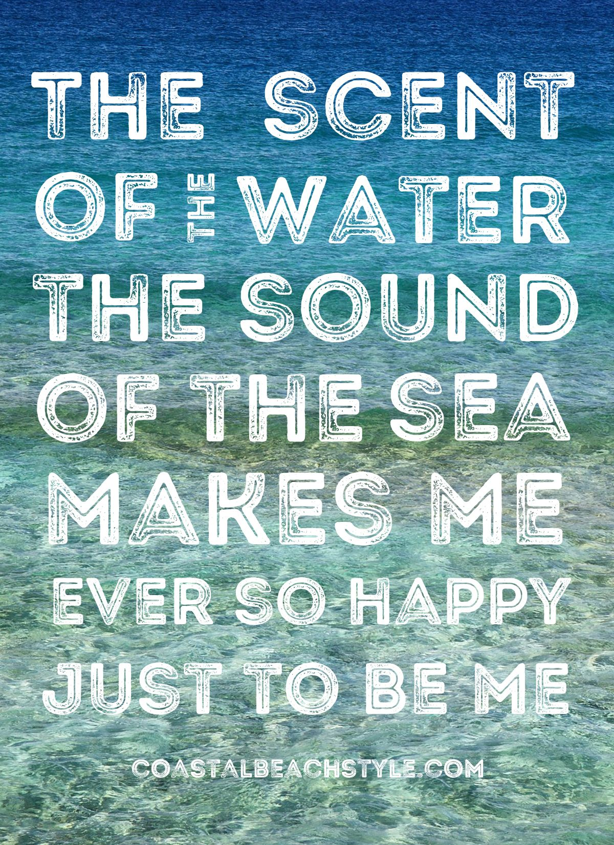 Merveilleux Inspirational Beach Ocean Sea Quote. The Scent Of The Water. The Sound Of  The