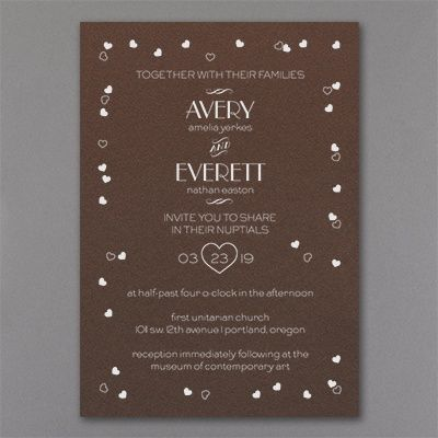 A Little Love - Invitation - Mocha Shimmer