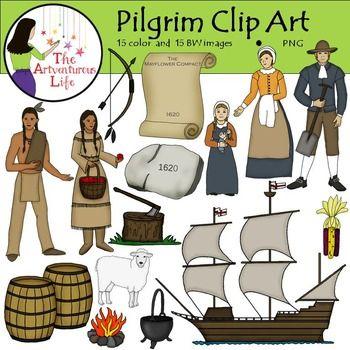 Thanksgiving Clip Art by Phillip Martin, Pilgrim Man