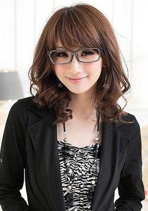 25 Asian Hairstyles For Round Faces Asian Hair Medium Length