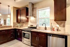 Kitchen Cabinets Solid Wood 10' x 10' RTA Soft Close Craftsman Java Maple