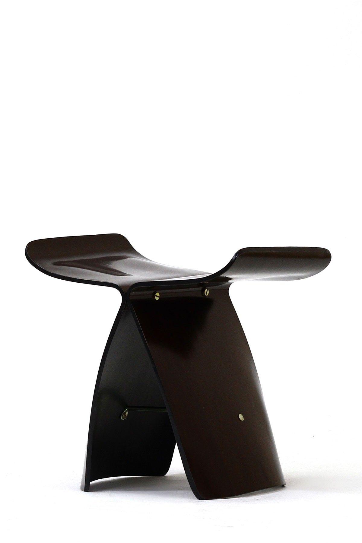 modern movement y plywood stool - wenge