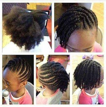 Tresses enfants Coiffure cheveux naturels, Coiffure