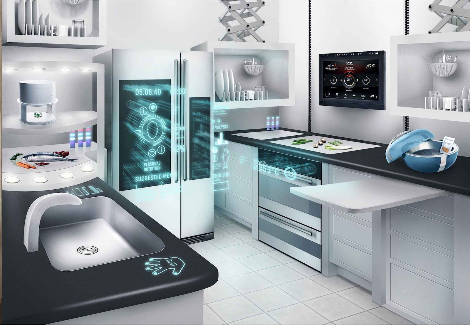 IoT Interactive Demos of the Smart Connected Kitchen of the Future ...