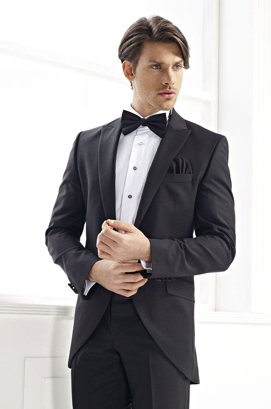 Click to buy ucuc mens suits wedding groom tuxedo black tailor suit