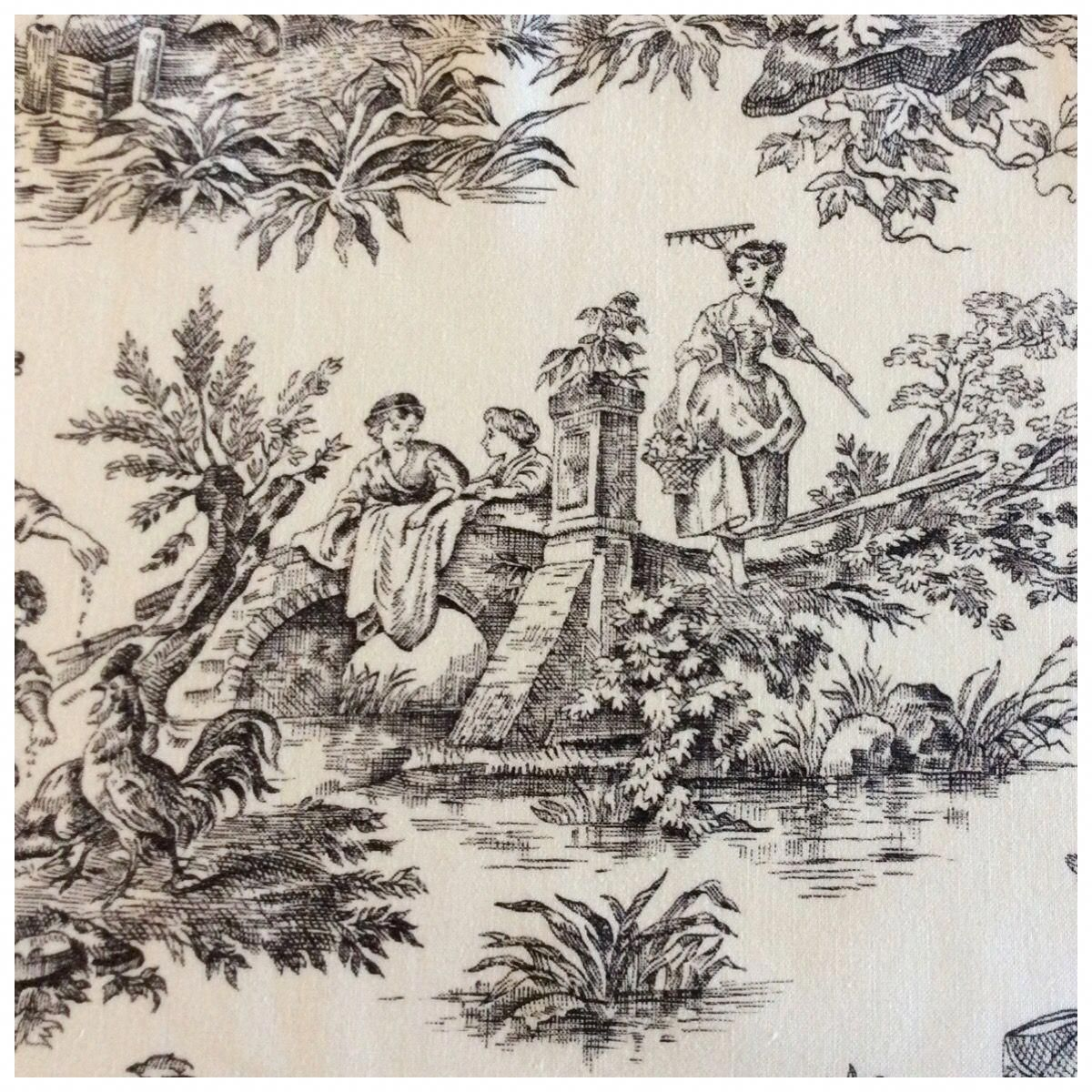 Vintage Bloomcraft Toile From Www Ornamentoile Etsy Com