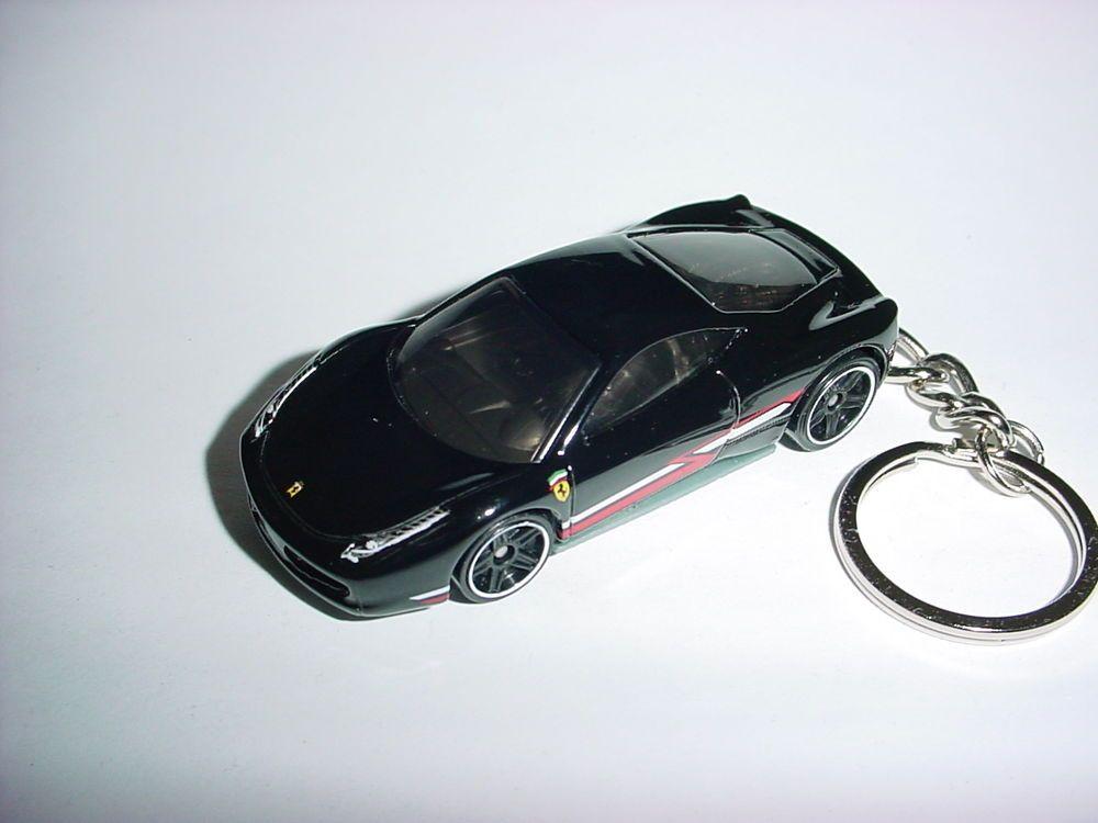 New 3d Black Ferrari 458 Italia Custom Keychain Keyring Key Race Backpack Bling Unbranded Backpack Bling Ferrari 458 Italia Ferrari 458