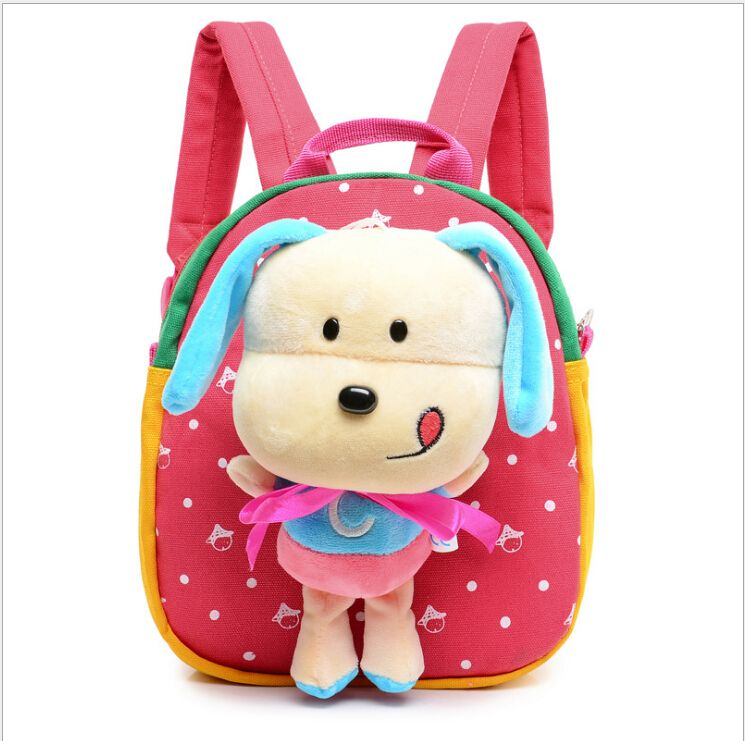 Kids Puppy Plush Backpacks Baby Infant 3D Cartoon Dog School Bags Children s  Toys Dolls School Backpacks Boys Girls Mochila df7989379cba4