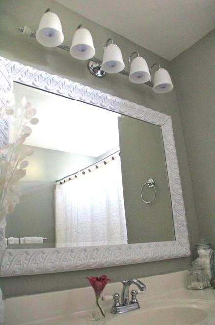 Easy Bathroom Facelift The Soulful House Simple Bathroom Bathroom Mirror Bathroom Mirrors Diy