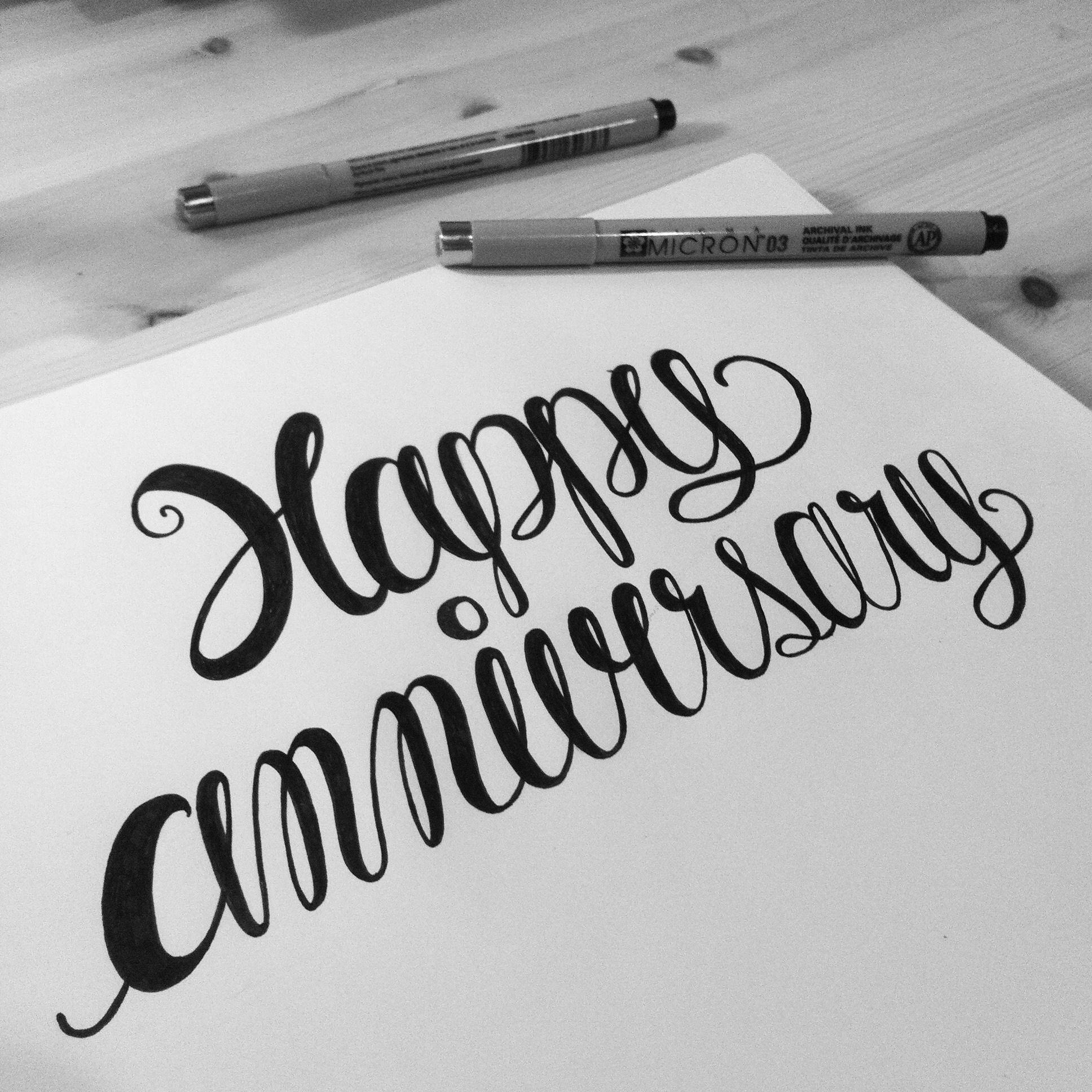 Happy anniversary everydaysmoodproject calligraphy