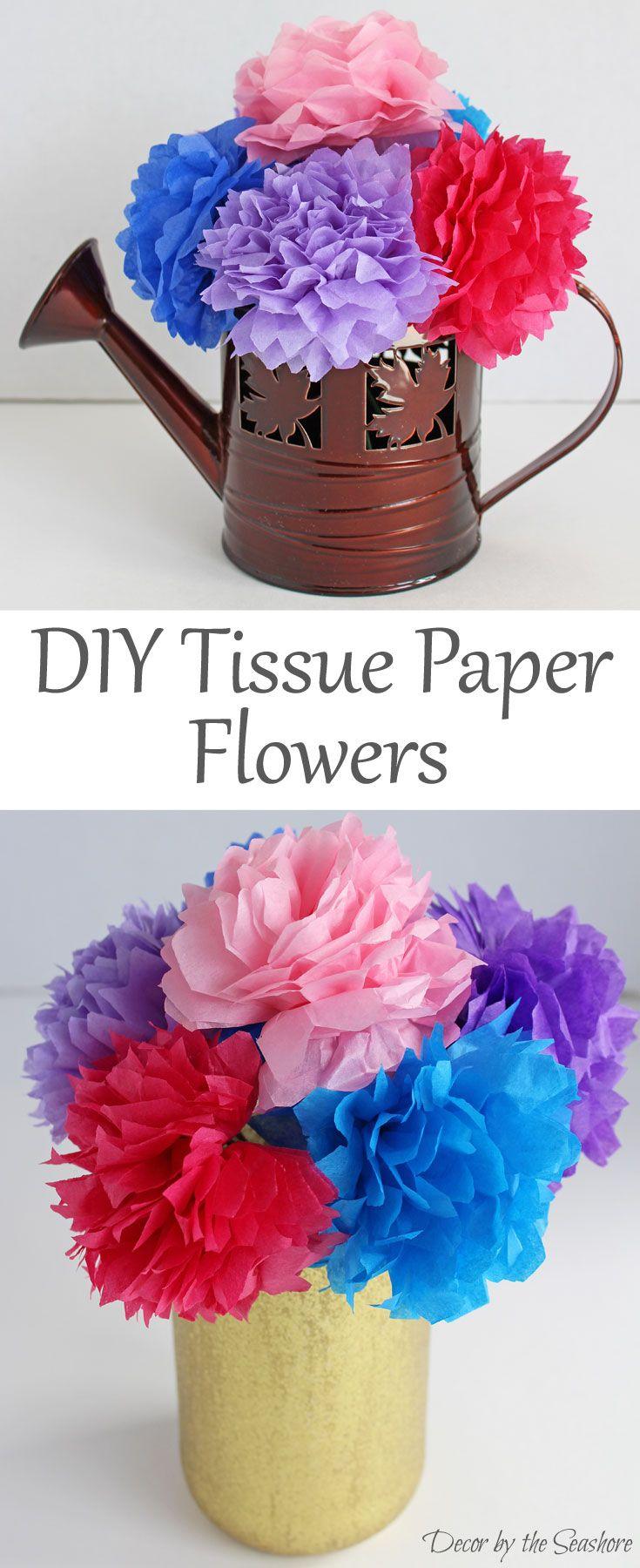 Diy Tissue Paper Flowers Tutorial Makinflowers Paper Flowers