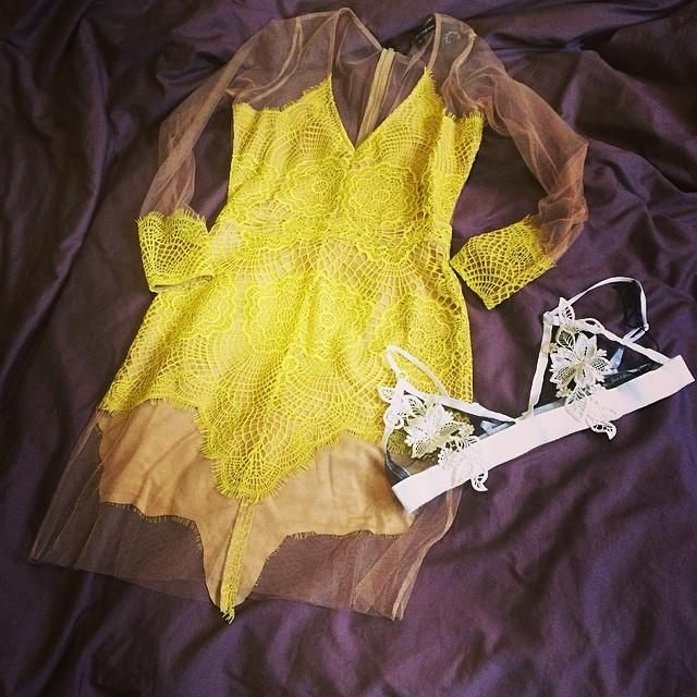 Taylor with the @For Love & Lemons Antigua Mini Dress & SKIVVIES Blooming Bra || Get the dress: http://www.nastygal.com/whats-new/for-love-and-lemons-antigua-mini-dress?utm_source=pinterest&utm_medium=smm&utm_term=ngdib&utm_content=show_off&utm_campaign=pinterest_nastygal  Get the bra: http://www.nastygal.com/product/skivvies-blooming-bra?utm_source=pinterest&utm_medium=smm&utm_term=ngdib&utm_content=show_off&utm_campaign=pinterest_nastygal