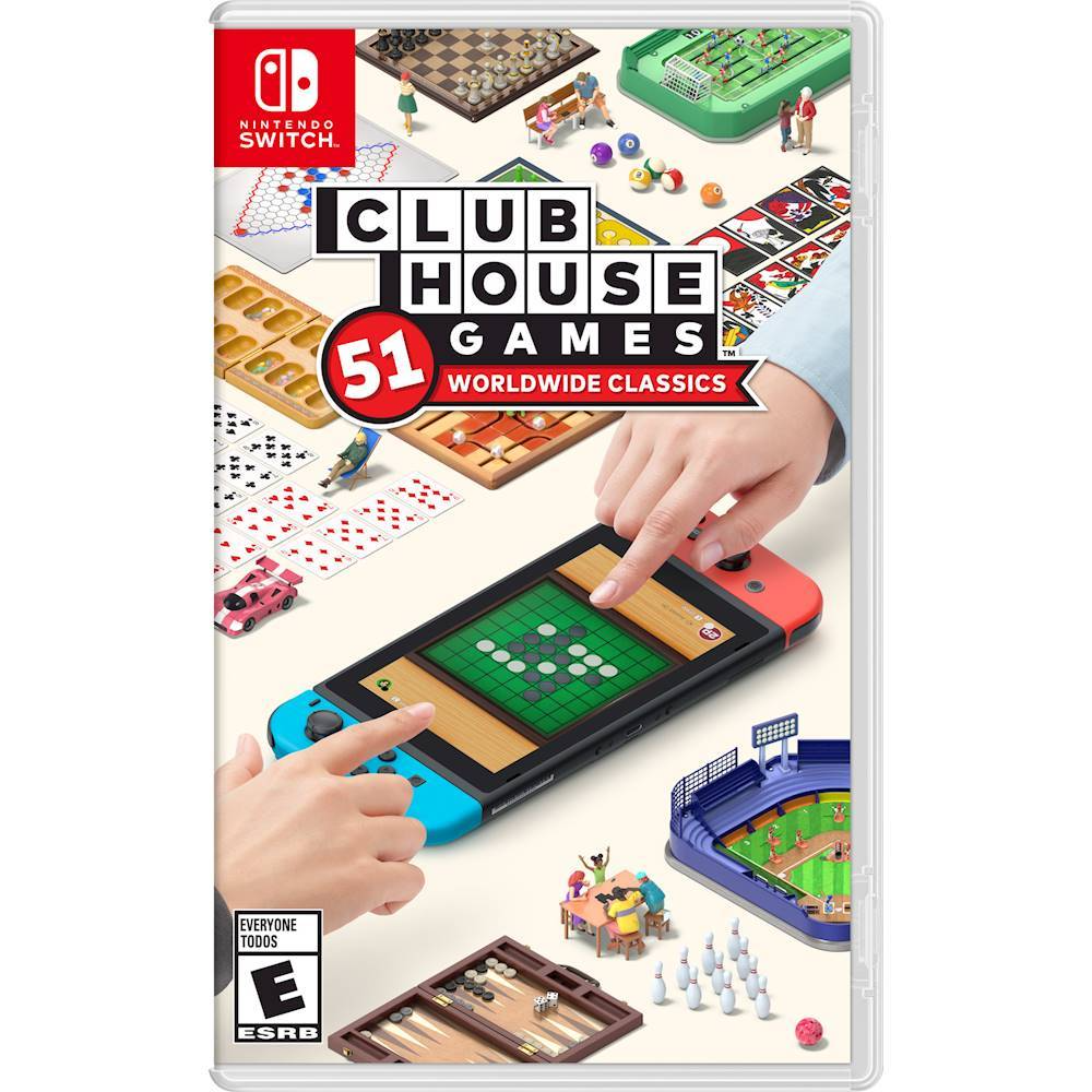Clubhouse Games 51 Worldwide Classics Nintendo Switch Hacpas7ta Best Buy Nintendo Switch Games Nintendo Switch System Tabletop Games