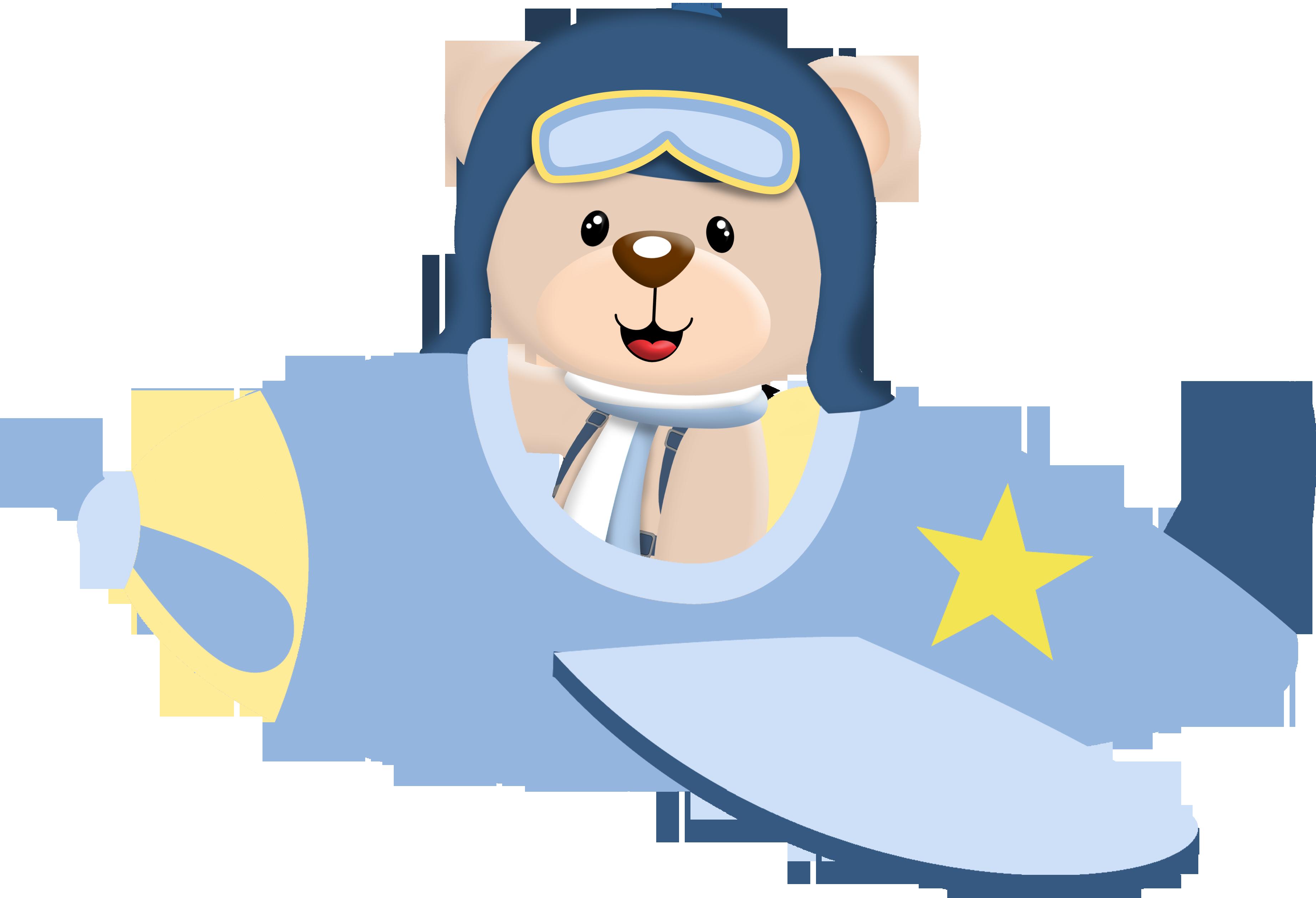 Aviador Ursinho Aviador Bebe Aviao Desenho De Urso