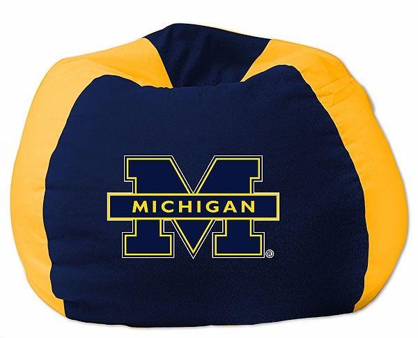 Michigan Wolverines Bean Bag Chair Bean Bag Chair Cool Bean Bags Bean Bag Furniture