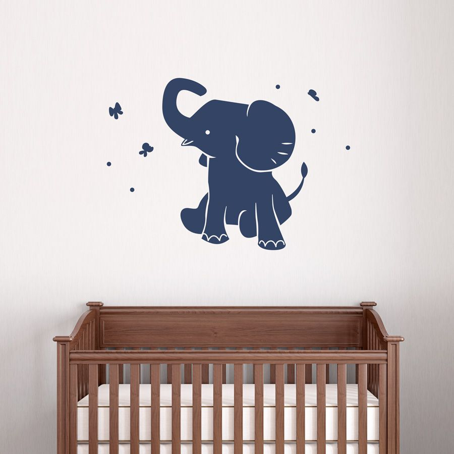 Superior Baby Elephant Wall Decal