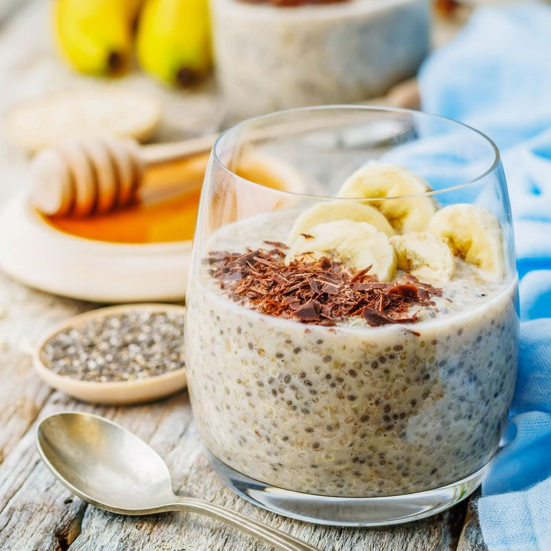 veganer low carb quinoa chia pudding im glas rezept einfache dessert rezepte einfache. Black Bedroom Furniture Sets. Home Design Ideas