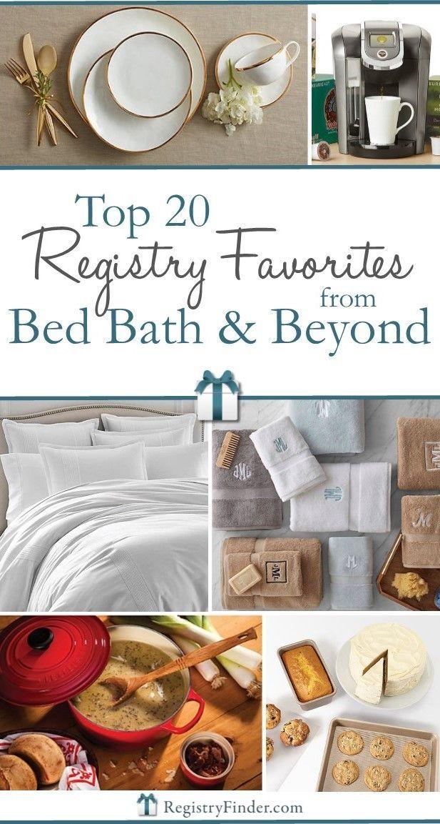 Top 20 Bed Bath & Beyond® Registry Favorites Wedding