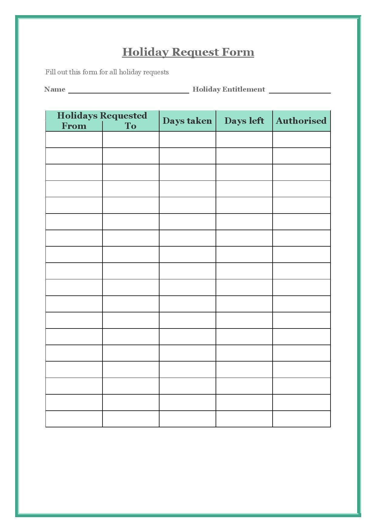 A Virtual Assistant Can Create A Holiday Request Form For Your
