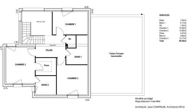 Modèle Gulliver - Maison à construire de type Contemporain - Etage