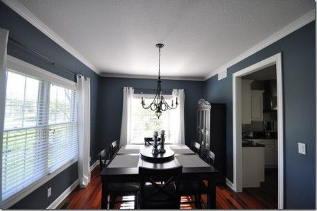 Sherwin Williams Smoky Blue  For The Dining Room  For The Home Classy Dining Room Colors Sherwin Williams 2018