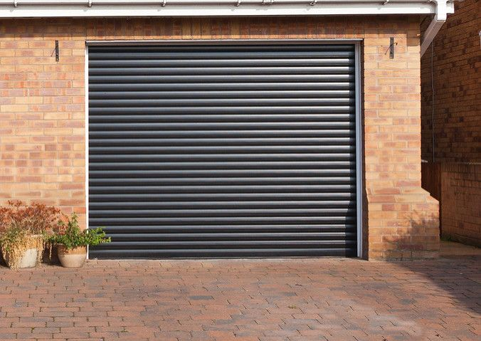 Beautiful Roller Garage Door In Black