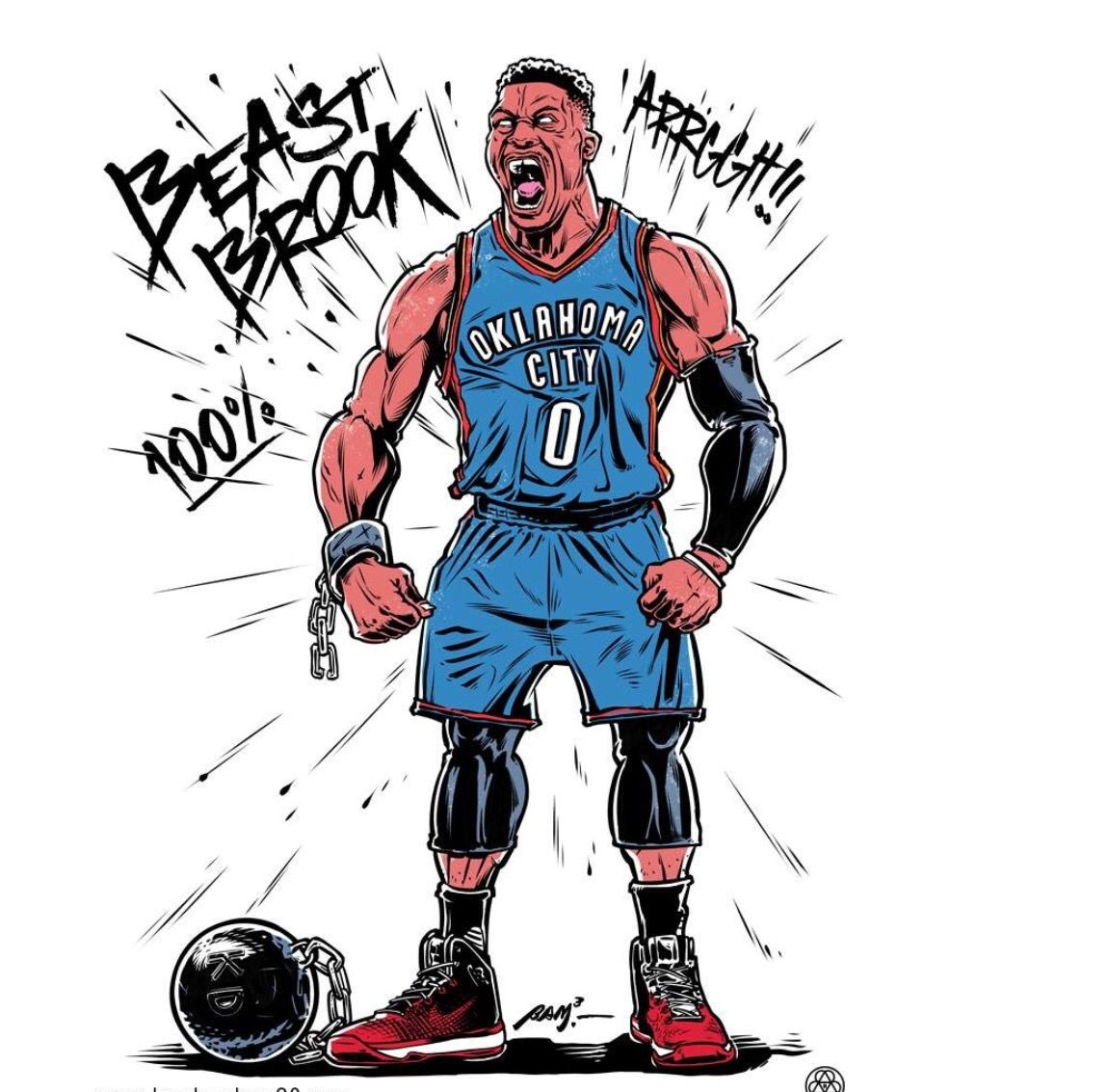 Cool Basketball Wallpapers: Pin By J.Breezy🏀 On Westbrook My Fav Player