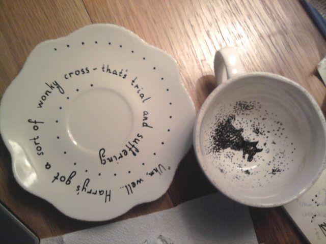 Reading Harry S Tea Leaves Harry Potter Tea Harry Potter Plates Harry Potter Diy
