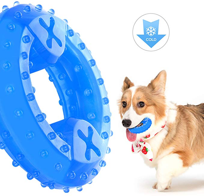 Amazon Com Nwk Freezable Pet Teether Cooling Chew Toy For Dogs Teething Toy For Puppies Fit With Treats Gateway Dog Teething Toys Best Dog Toys Dog Teeth