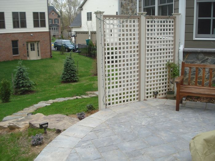 Exceptional Privacy Lattice Wall And Stone Steppers