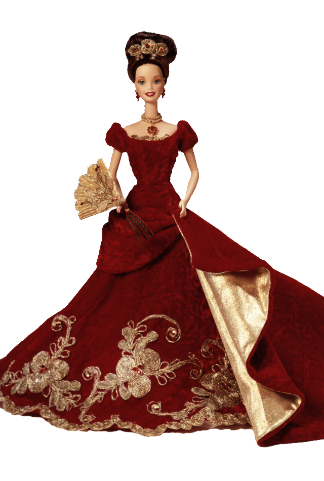 Ball™ Barbie® Doll 1997 - Holiday Ball™ Barbie® Doll  The past makes a beautiful present in this stunning tribute to an old-fashioned holiday celebration. Limited Edition doll made of fine, hand-painted porcelain bisque will be cherished for as long as the season is celebrated.1997 - Holiday Ball™ Barbie® Doll  The past ma...