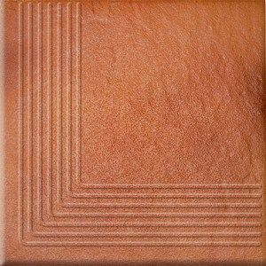 Klinkier Solar Tan Corner Steptread 30 X 30 CM Purpose:    Facades, Terraces Type plate:    On The Floor Type of material:    Glazed Clinker Colour:    Brown Product Size:    30 × 30 CM Thickness:    11 Type of surface / enamel:    Shiny Abrasion class:    4