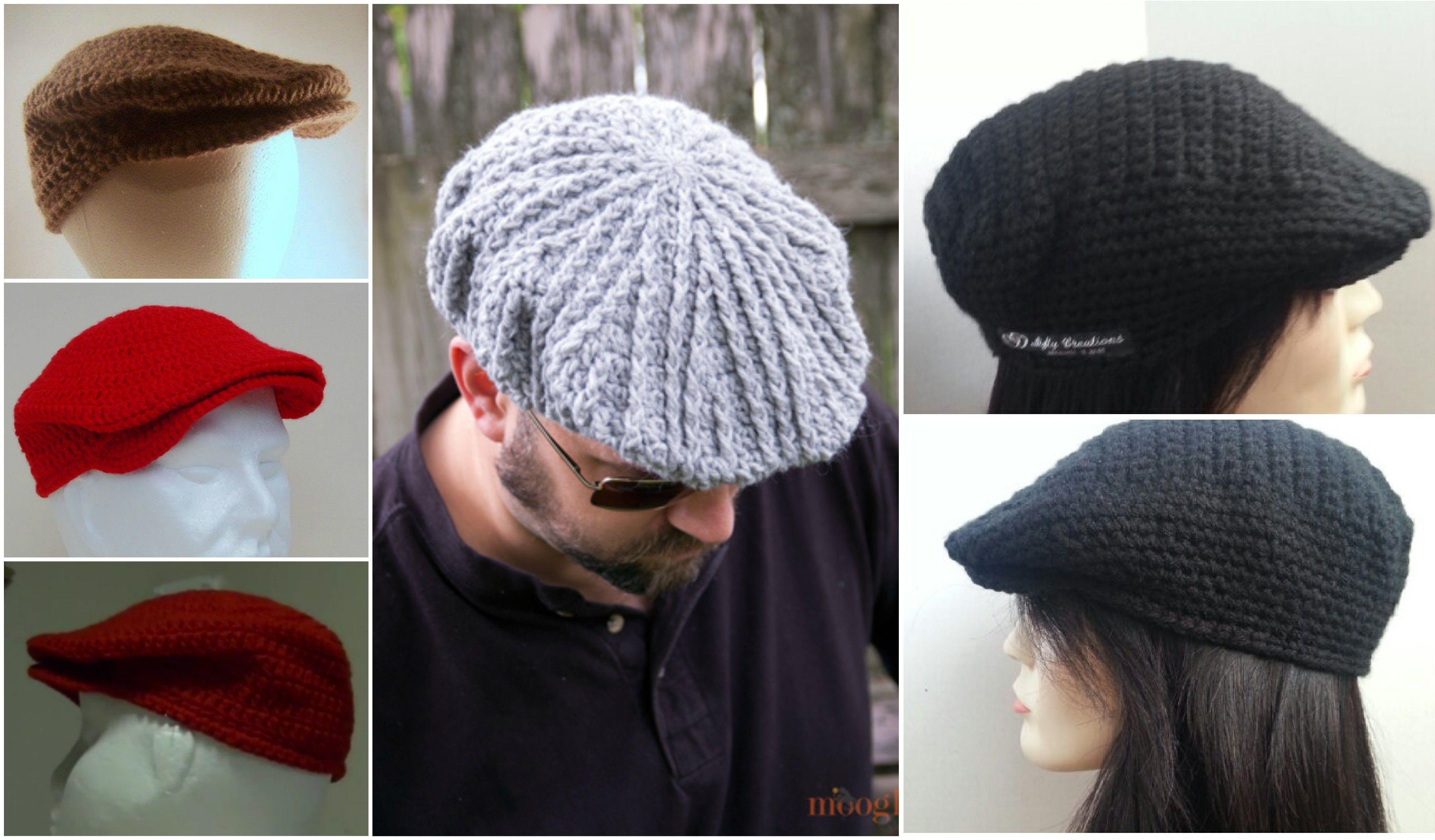 27b575fe How To Crochet a Flat Cap | Crochet | Crochet cap, Crochet beanie ...