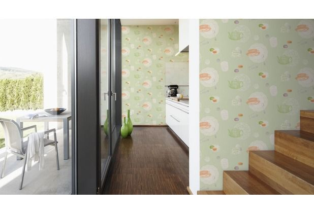 die perfekte tapete für die küche! das freundliche hellgrün wird ... - Küche Hellgrün