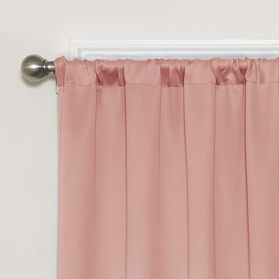 Ebern Designs Windall Solid Blackout Thermal Rod Pocket Curtains Drapes Blackout Curtains Curtains Eclipse Curtains
