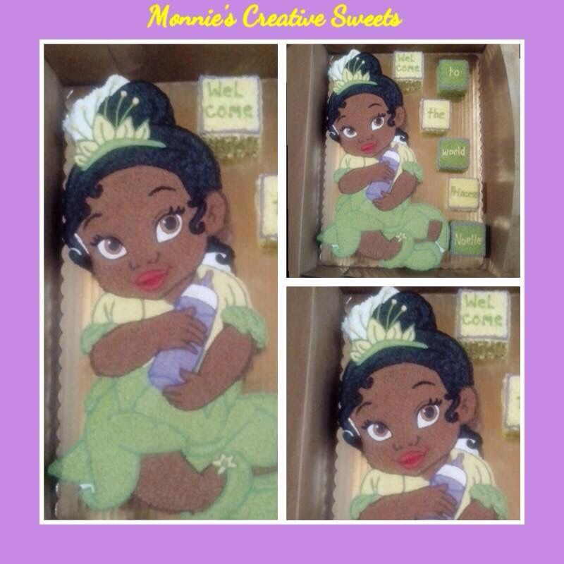 Princess Tiana baby shower cake By Monnies Creative Sweets – Princess Tiana Party Invitations