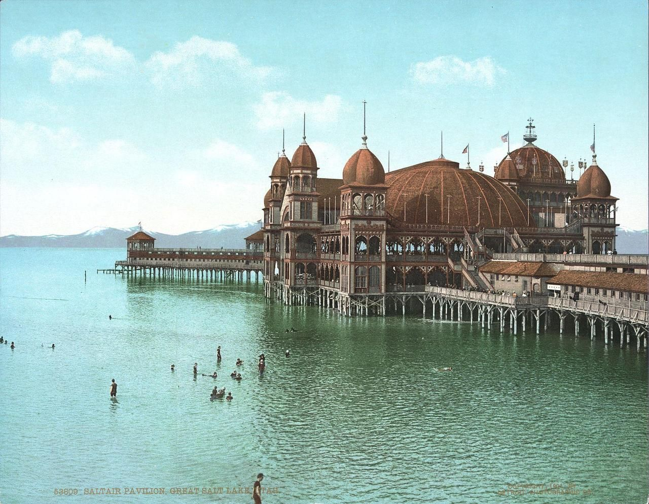 historicaltimes:  Saltair Pavilion, Great Salt Lake- 1900 Had you not been destroyed in a fine in 1925 you would make a wonderful addition to the Atlas Obscura database