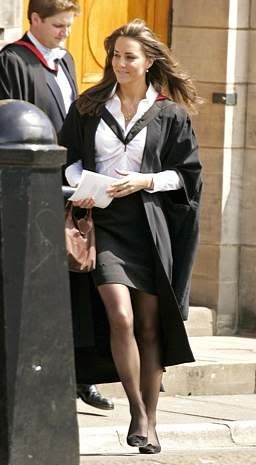 Kate Middleton graduating from St. Andrews University in Scotland