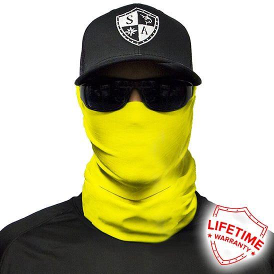 Solid   Safety Yellow Face Shield® - Lightweight Bandana & SPF40 Sun Protection Mask - SA Company