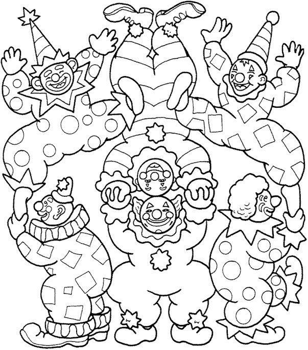 Dibujos para Colorear Circo 4 | Dibujos de colorear para adultos ...