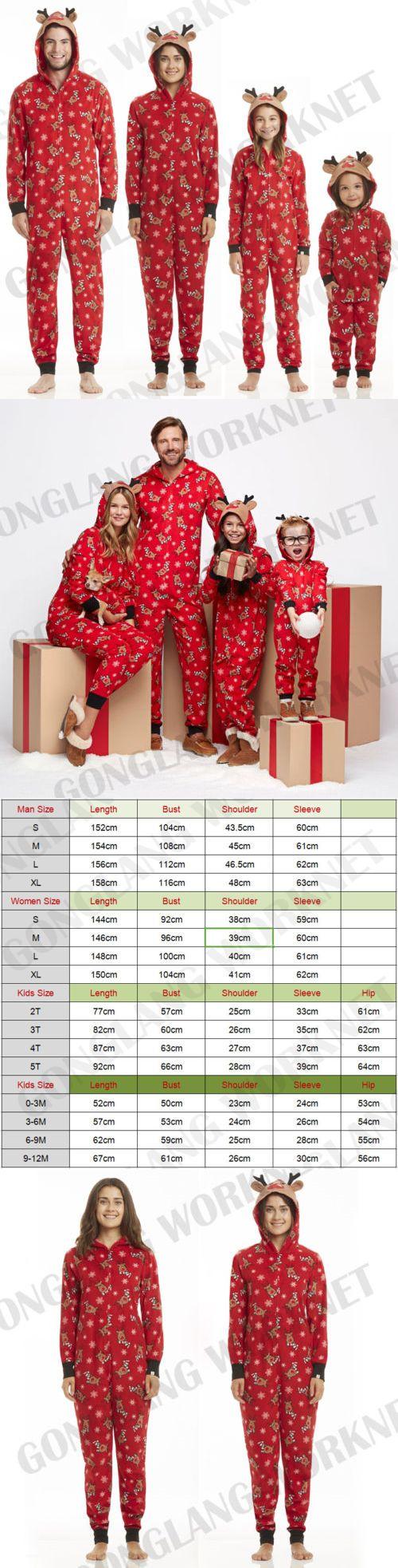 56c36c6467 Sleepwear 99735  Family Matching Christmas Pajamas Set Mom Dad Kids Deer  Sleepwear Nightwear Zip -