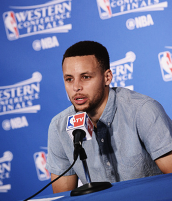 fyeahbballplayers: Stephen Curry   Press conference after the...