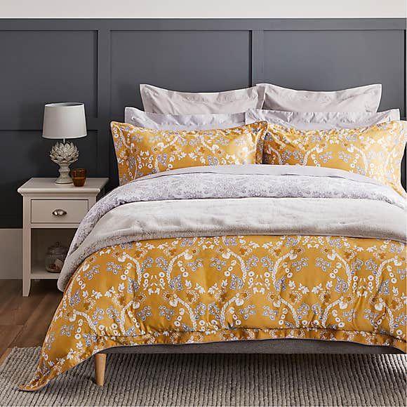 Dorma Addinston 100 Cotton Ochre Duvet Cover In 2021 Duvet Covers Gray Duvet Cover Contemporary Duvet Covers