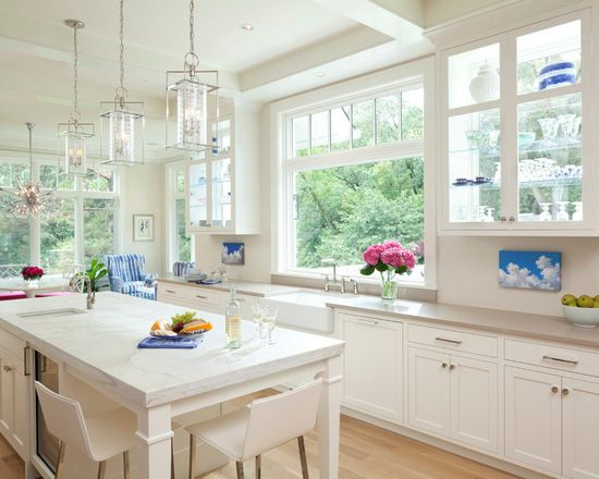 Best Traditional Pass Through Window From Sink To Patio Single Wall Kitchen With Shaker Cabinets Design Id Pass Through Window Kitchen Pass Kitchen Sink Window