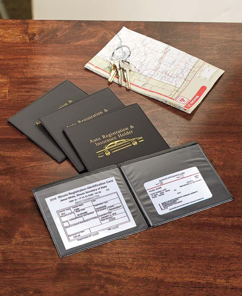 Set Of 4 Car Registration And Insurance Wallets Family Budgeting