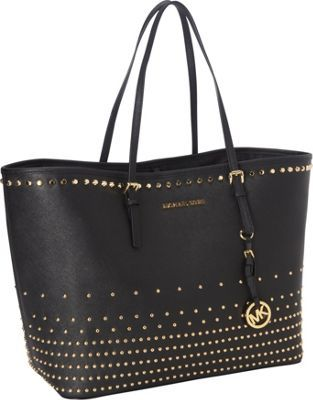 dc200770149d MICHAEL Michael Kors Jet Set Travel Stud Degrade Medium Tote Bag Black -  via eBags.com!