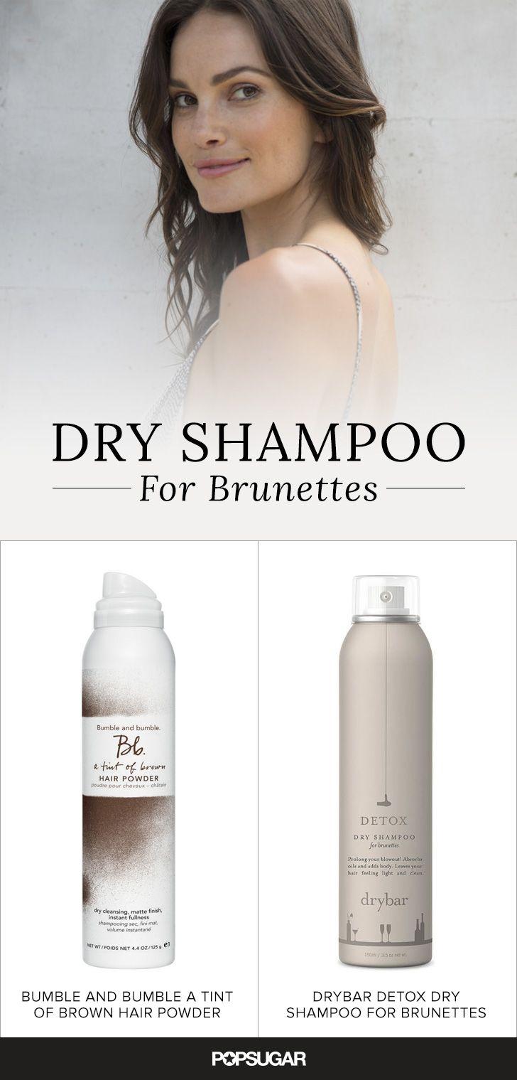 Brunettes Listen Up These Dry Shampoos Were Made Especially For Dark Hair Dry Shampoo Brown Hair Powder Dark Curly Hair